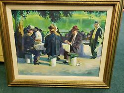 Robert Milford Caples Oil On Canvas Painting