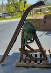 Antique Weaver Tow Truck Wrecker Boom Auto Crane 1920and039s-1930and039s Holmes Manley