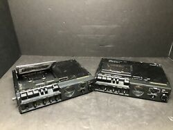 Two Marantz Pmd-221 3 Head Portable Cassette Recorder Players. For Parts Jhb3