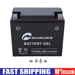 Ytx20l-bs Battery For Yamaha Yfm660f Grizzly 660 4x4 2002-2008