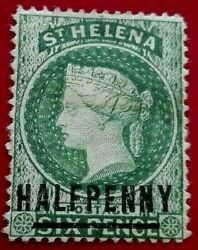 St Helena 1884 -1894 Queen Victoria ½ / 6 P. Rare And Collectible Stamp.