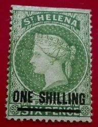 St Helena 1884 -1894 Queen Victoria 1 / 6 Sh P. Rare And Collectible Stamp.