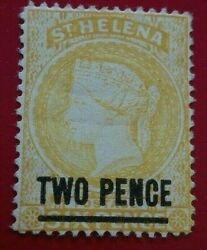 St Helena 1884 -1894 Queen Victoria 2 / 6 P. Rare And Collectible Stamp.