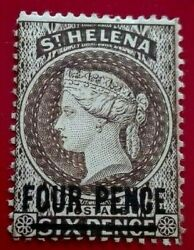 St Helena 1884 -1894 Queen Victoria 4 / 6 P. Rare And Collectible Stamp.
