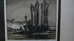 Frank Brangwyn Rare Etching Signed In Pencil Sold At Sotheby's For £1625