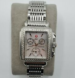 Michele Deco Day Mother Of Pearl Dial Diamonds Steel Ladies Watch Mw06a01