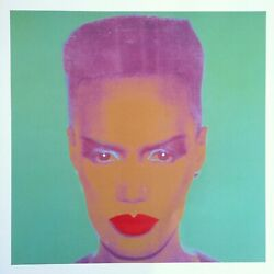 Andy Warhol Foundation Rare 1993 Collector's Lithograph Print Grace Jones 1986