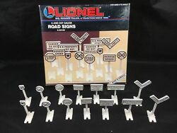 Lionel Road Signs O And O27 Gauge Model Railroad Signage 6-62180 Complete