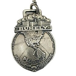 Original Rumely Oil Pull Farm Tractor And Thresher Watch Fob