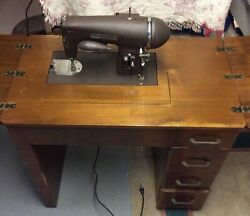 Vintage Antique Kenmore Sewing Machine With 4 Drawer Cabinet Model E-6354