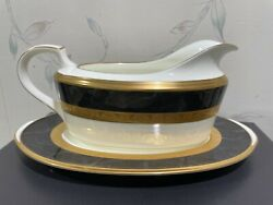 Noritake Opulence Gravy Boat And Under Plate Liner 2 Piece Set - Nwot And Rare
