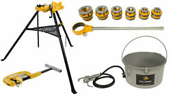Steel Dragon Toolsandreg 12-r Threader Kit With 418 Oiler 460 Chain Vise And 2a Cutter