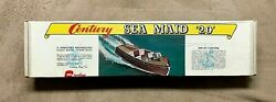 New Century Sea Maid 20' Model Boat Kit By Sterling New Old Stock - Sealed