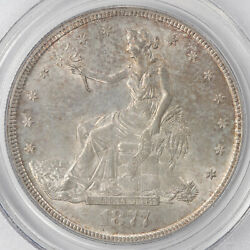 A Very Nice 1877-s Silver Trade Dollar Ms-64 By Pcgs With Amazing Eye Appaeal