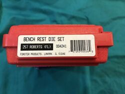 Forster 257 Roberts Bench Rest Die Set - Rifle Reloading Dies - Used
