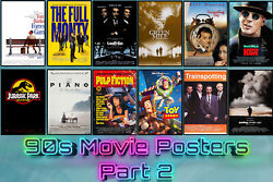 Classic 90's Movie Posters 90s Film Posters High Quality Part 2