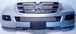 07-09 Mercedes Gl450 X164 Front Bumper Cover + Center Grill Assembly Silver Oem
