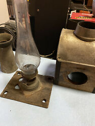 Antique Oil Lamp Slide Projector Magic Lantern Very Old