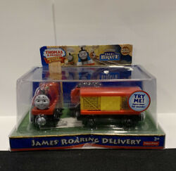 Nib New Thomas And Friends Wooden Railway James Roaring Delivery - Rare Htf