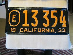 1933 Exempt California License Plate. Re-paint
