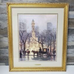 Thomas Kinkade The Water Tower Chicago 474/1850 Signed And Framed 25x29 16x20