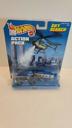 1998 Hot Wheels Action Pack Sky Search Helicopter Chopper And Blimp 187350910g1
