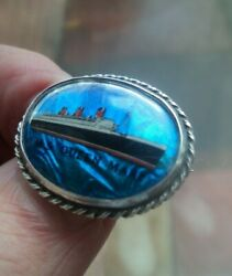 Shipping Stg. Silver Butterfly Wing Brooch Cunard Steamship Company - Queen Mary