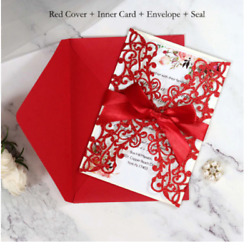 Laser Cut Invitations Cards For Birthday Wedding Engagement Party Supplies 50pcs