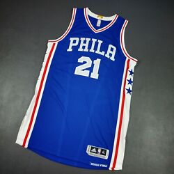 Joel Embiid Adidas Revolution 30 Sixers Authentic Jersey Size Xl 48 Mesh Mens