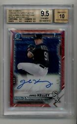 2021 Bowman Chrome Prospect Auto Red Shimmer Refractor Jared Kelley 5/5 Bgs 9.5