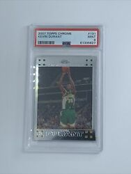 2007-08 Topps Chrome Kevin Durant Rookie Rc 131 Brooklyn Nets Psa 9 Mint