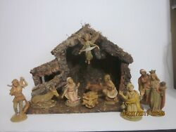 Vintage Fontanini Italy 5 120 11 Piece Set With Creche