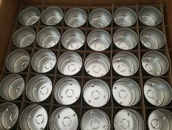 8oz Metal Round Steel Empty Candle Tins with Push On Lids 120 Set Free Shippi