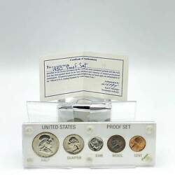 1950 U.s. Proof Set With Three Silver Coins Incl. Franklin Silver Half Dollar