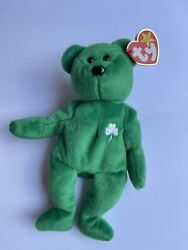 Ty Beanie Baby Erin The Bear Rare Excellent 1997 - Tag Has Creases