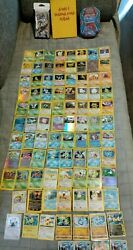 Pokemon Card Lot Vintage, 90+ Cards, Holo Rare, Binder Collection,misc