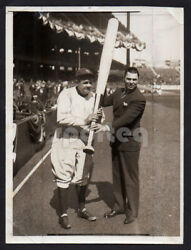 Two Champs Vintage Original Photo Babe Ruth And Jack Dempsey Silver-gelatin
