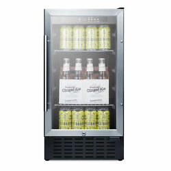 Summit Scr1841bcss 18 One Section Beverage Center With Glass Door 2.7 Cu.ft