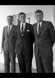 John F Kennedy With Brothers Bobby And Ted Art Print Photo Poster