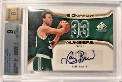 Larry Bird 2006-07 Sp Game Used Significant Numbers Auto / Relic 17/33 Bgs 9