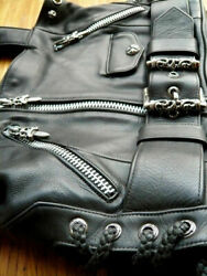 Chrome Hearts Leather Handbag Jj Dean,perfect Condition, Accents Sterling Silver