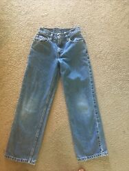 """Vintage Kids Levi#x27;s 550 Red Tab Jeans Relaxed Fit Size 11 W 24"""" L 24"""""""