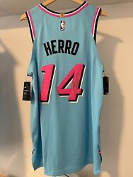 Nike Tyler Herro Miami Heat Vice Wave Authentic Jersey Pro Cut Autographed Nwt