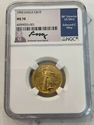 1993 10 American Gold Eagle Ngc Ms 70 Moy