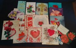 Vintage Greeting Card Lot Norcross Valentines Day Mothers Day Easter Poem Book