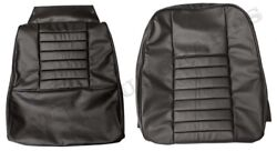 Interior Volvo Seat Covers Black P1800 S/e 64-71 Front/back - Made In Sweden