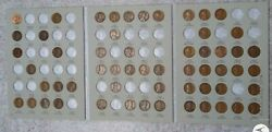 57 Coin 1909-1940 Lincoln Wheat Penny Cent - Early Dates Collection  173