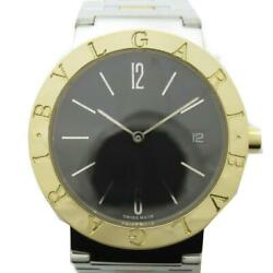 Bvlgari Watch Unisex 18k Yellow Gold Stainless Steel Bb33sg Used Excellent