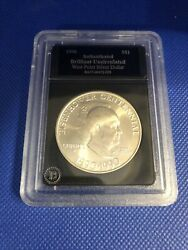 Eisenhower Authenticated Uncirculated West Point Silver Dollar