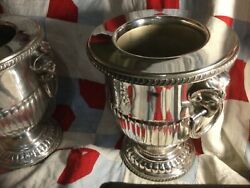 Antique Sheffield Plated Champagne Wine Coolers 1800andrsquos
